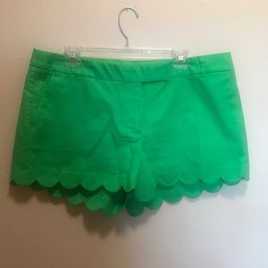 NWT Jcrew Factory scalloped shorts!